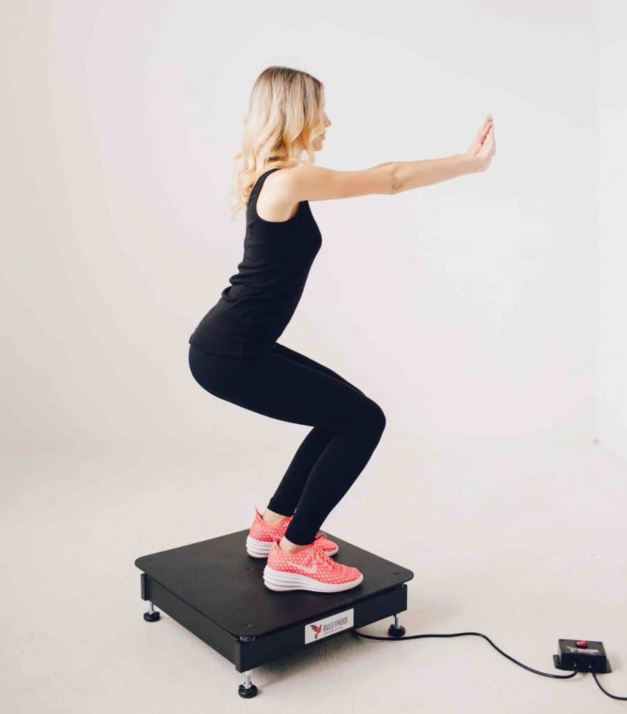 Picture of Woman on Vibration Machine